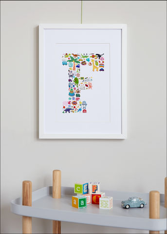 Handmade,I,Spy,An...,Alphabet,Children's,Print,Children's prints, children's unframed prints, graphic prints, children's letter print, handmade children's gifts, handmade children's art, bespoke children's gifts, personalised children's gifts, children's print, children's stickers, sticker art, childr