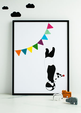 The,Playful,Panda,Children's,Print,Children's prints, children's unframed prints, panda print, animal print, graphic prints, handmade children's gifts, handmade children's art, bespoke children's gifts, personalised children's gifts, children's print, children's felt, felt art