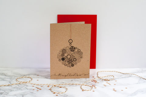 Button,Bauble,Christmas,Card-,Oval,Christmas card, bauble card, greeting card, blank inside card, elegant Christmas card