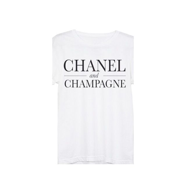 Chanel & champagne tee  - product images  of