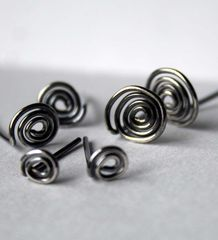 Sterling Silver Spiral Post Earrings  Free Shipping - product images 3 of 3