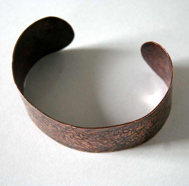 Hawthorn - Unisex Copper Cuff Bracelet - Made to Order-Free Shipping - product images  of