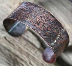 Hawthorn - Unisex Copper Cuff Bracelet - Made to Order-Free Shipping - product images 5 of 5