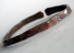 Unisex Recycled Copper  Bangle Bracelet Made to Order Free Shipping - product images 1 of 3