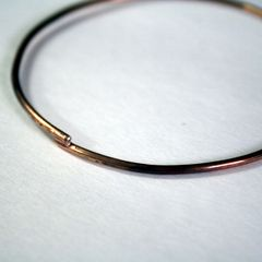 Rustic Bronze Bangle Free Shipping Made to Order - product images 1 of 5