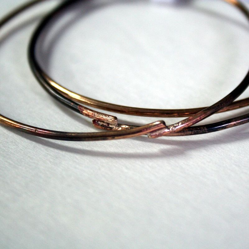 Rustic Bronze Bangle Free Shipping Made to Order - product images  of