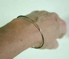 Rustic Bronze Bangle Free Shipping Made to Order - product images 5 of 5