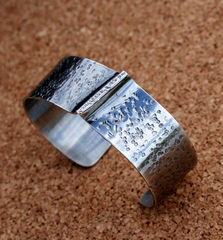 Sterling Silver Cuff - Ridge - product images 3 of 3