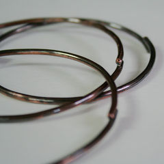 3 Rustic Copper Bangles Free Shipping - product images 2 of 4