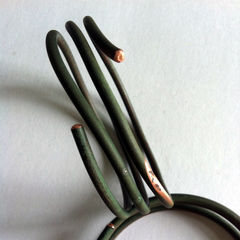 Encircled 3 Unisex Upcycled Eco-Friendly Vintage Copper Wire Bangle - product images 2 of 3