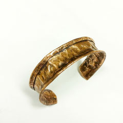Unisex Tribal Earthy Copper Hammered Cuff - product images 1 of 3
