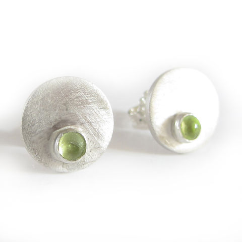 Sterling,Silver,and,Peridot,Stud,Earrings,by,Catherine,Marche,silver earrings, stud earrings, catherine marche, sterling silver, perdiot