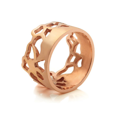 Embroidery,ring,wide,rose,gold,by,Danny,Ries,cut-out ring, lace, 9ct rose gold