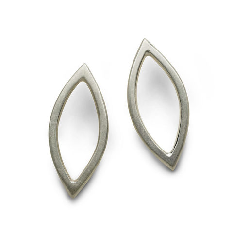 Medium,Marquise,Earrings,silver,by,Naomi,Tracz,geometric silver earrings