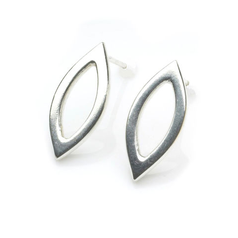 Small,Marquise,Earrings,silver,by,Naomi,Tracz,geometric silver earrings
