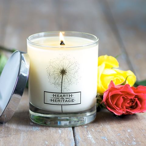 Rose,and,Neroli,Natural,Wax,Scented,Candle, Neroli, Soy wax, strong scented candle, made in uk, english candle, natural candle