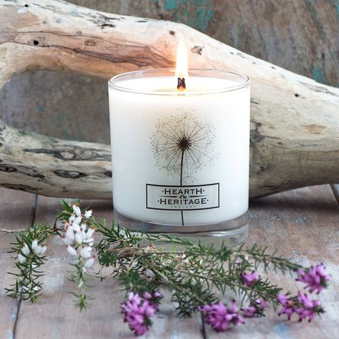 Coastal,Walk,Natural,Wax,Scented,Candle,seaside, heather, sea buckthorne,coastal,  Soy wax, strong scented candle, made in uk, english candle, natural candle