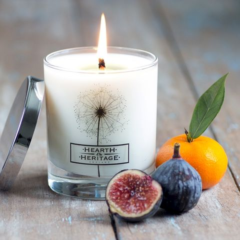 Fig,and,Bergamot,Natural,Wax,Scented,Candle, bergamot, woody, Soy wax, strong scented candle, made in uk, english candle, natural candle