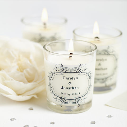 50,Wedding,Favour,Personalised,Candles,personalised candles, wedding favours, romantic, natural candles