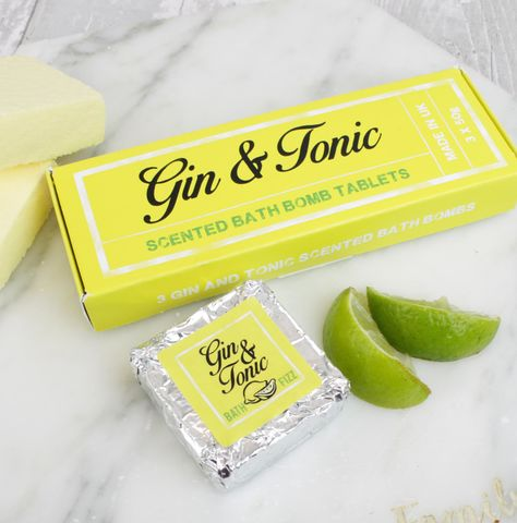 Gin,&,Tonic,Fizzing,Bath,Bomb,Tablets,bath bombs, pamper beauty, prosecco gift, fizz gift, prosecco bath bombs
