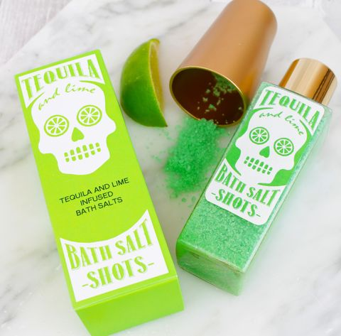 Tequila,Bath,Salt,Shots,tequila beauty; pamper gift; lime green; alcohol beauty gift; bath salt shots; tequila gift