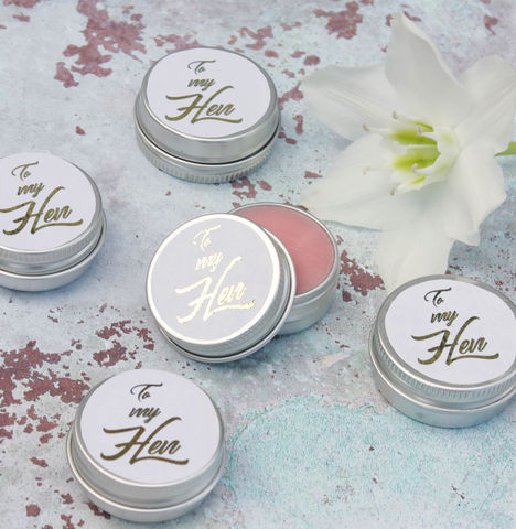 Hen,Party,Beauty,Gift,,Natural,Lip,Balm.,hen gift; hen party token gift; bridesmaid gift; hen party gift, beauty gift; lipbalm gift