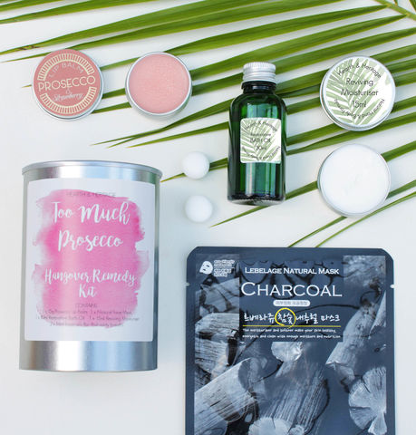 Too,Much,Fizz,Recovery,Kit,in,a,Tin,fizz beauty gift; prosecco beauty gift; hangover cure gift; too much fizz; pimp your fizz product; prosecco beauty pamper kit; beauty in a tin; charcoal face mask; prosecco themed gift.