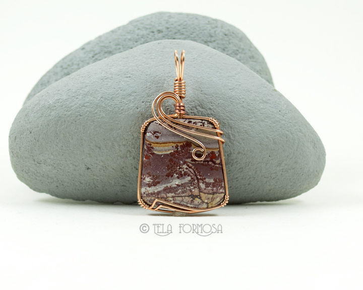 Natural Stone Pendants Wire wrapped sonora dendritic rhyolite pendant picture stone bronze wire wrapped sonora dendritic rhyolite pendant picture stone bronze natural stone pendant audiocablefo