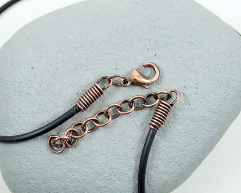 2.5mm,18-20,Adjustable,Black,Cord,Necklace,Antique,Patina,Copper,Lobster,Claw,Clasp