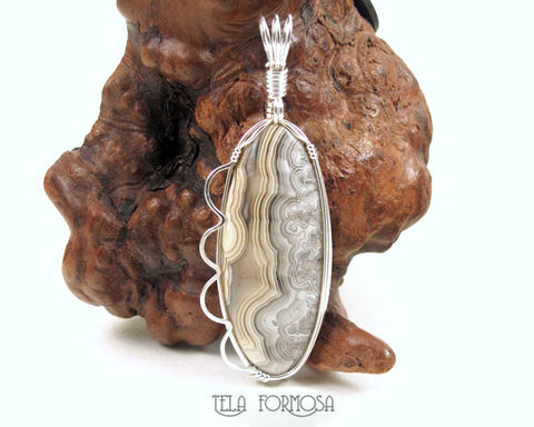 Laguna,Crazy,Lace,Agate,Pendant,Yellow,Gray,Handmade,Sterling,Silver,Wire,Wrapped,Jewelry,Laguna_Crazy_Lace,crazy_lace,crazy_lace_agate,agate_pendant,Natural_Stone,stone_Cabochon,cabochon_Pendant,Wire_Wrapped_Pendant,Sterling_Silver,Wire_Wrap_Pendant