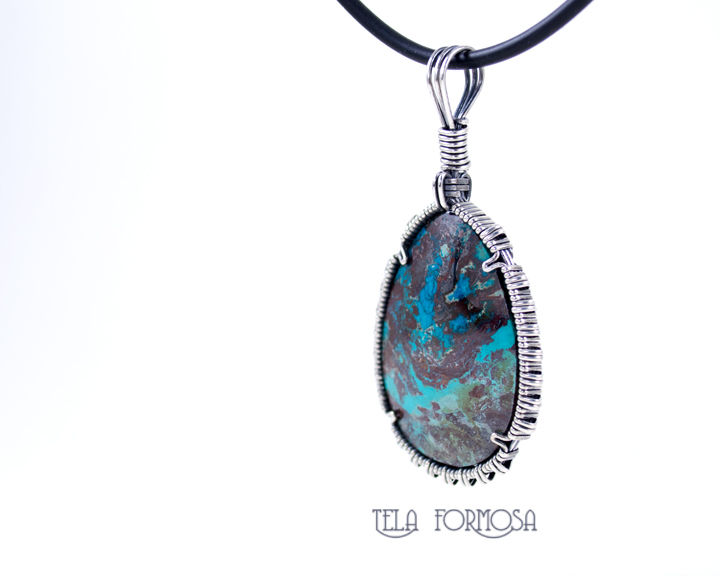 Tonopah Royston Turquoise Pendant Natural Stone Cabochon Wire ...