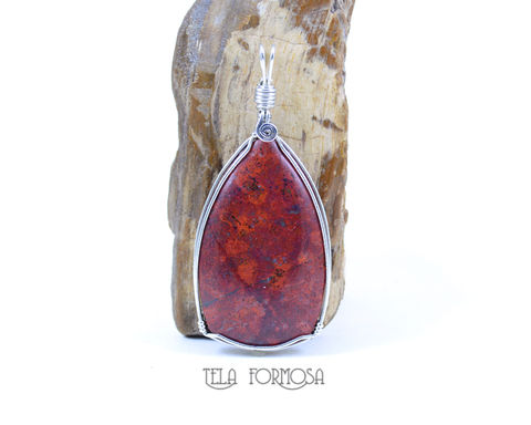 Rare,Sonoran,Crimson,Cuprite,Pendant,Handmade,Wire,Wrapped,Natural,Stone,Caboch,Jewelry, Sonoran sunrise, sonoran, Crimson Cuprite,cuprite,crimson cuprite Pendant, cuprite pendant, red pendant, Handmade, Wire Wrapped,  wire wrap, Natural Stone, Cabochon Jewelry, stone cabochon