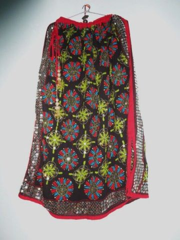 Black,Gypsy,Skirt,for,Girls,Hand,Embroidered,and,Sequined,Girls skirt, skirt for women, long skirt, Indian gypsy skirt, hand embroidered skirt, boho gypsy skirt, banjara skirt, fabstolesnmore