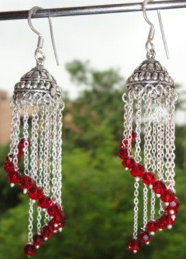 Antique Gypsy Boho Spiral Curtain Dangle Earrings - SOLD - product images