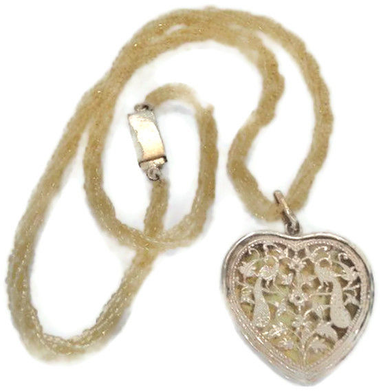Yellow Heart Thewa Art Pendant Necklace - SOLD - product image