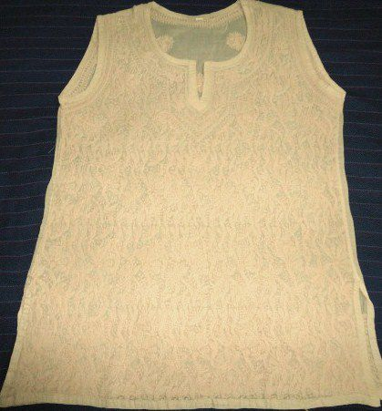 Cotton Tunic in Fawn Color with Beautiful Hand Embroidery - product image