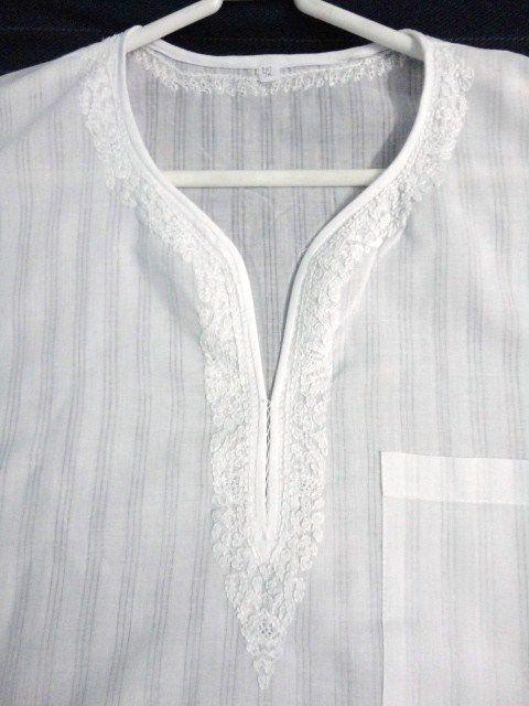 White Long Sleeve Mens Shirt