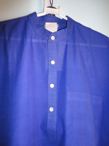 Mens,Blue,Designer,Long,Kurta,Shirt,in,Handwoven,Mangalgiri,Cotton,-,Custom,made,Kurta shirt, blue kurta, ethnic shirt, long shirt