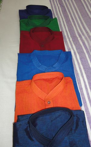 Mens,Designer,Long,Kurta,Shirt,in,Handwoven,Mangalgiri,Cotton,-,Custom,made,Kurta shirt, blue kurta, ethnic shirt, long shirt, orange shirt, red shirt, green shirt