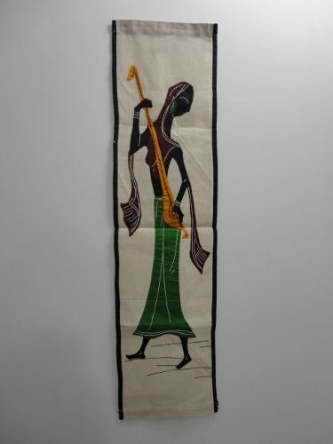 Woman Playing Ektara Musical Instrument Wall Hanging - product image