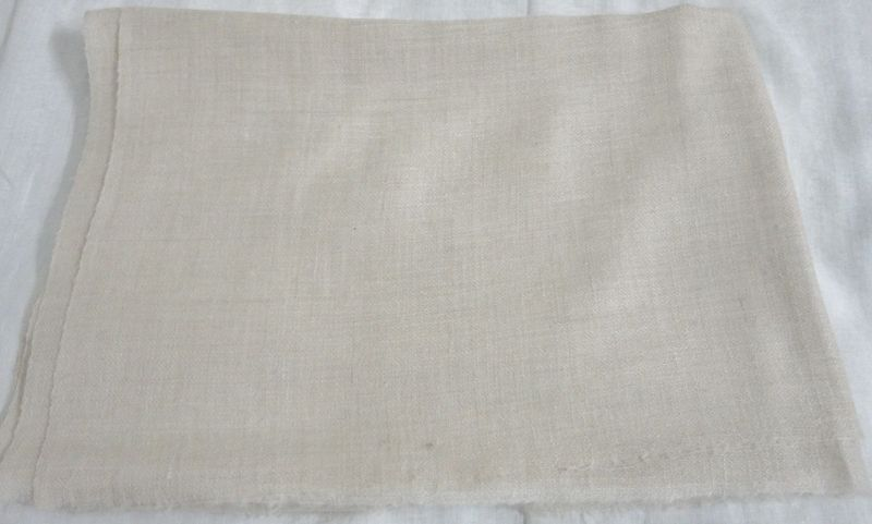Natural Creamy White Handwoven Pashmina Stole in Loose Weave - product image
