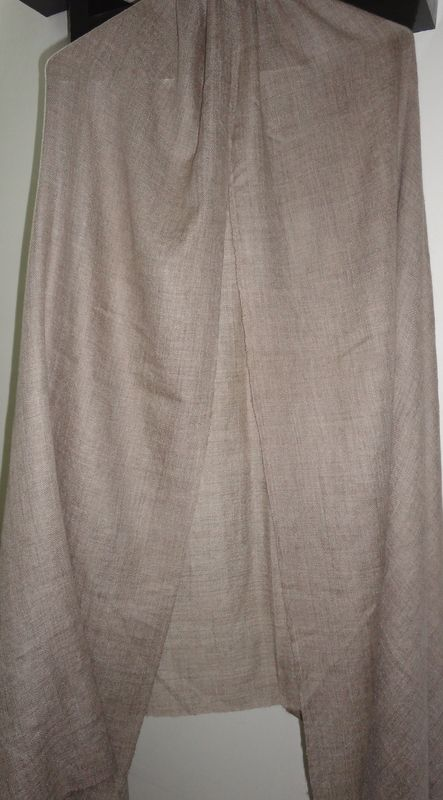 Handwoven Loose Weave Natural Pashmina Shawl - product image