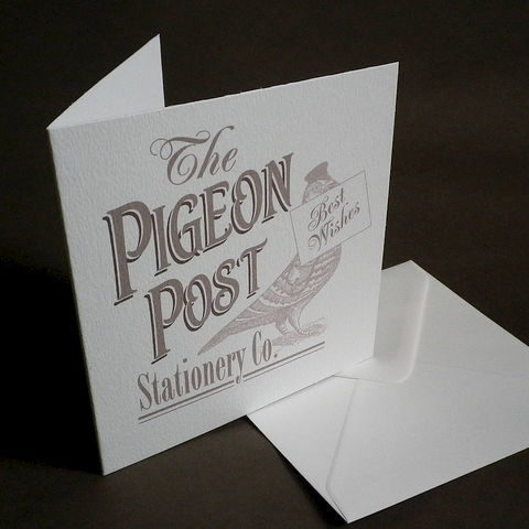 The,Pigeon,Post,Stationery,Co.,Card,(,With,9,different,messages),Paper_Goods,Cards,Thank_You,Pigeon_Post,Vintage_Cards,Thank_you_Card,Congratulations_Card,Invitation_Card,Good_Luck_Card,Best_Wishes_Card,New_Home_Card,Birthday_Card,Sorry_Card,Bummer_Card,White_Card,Engraving