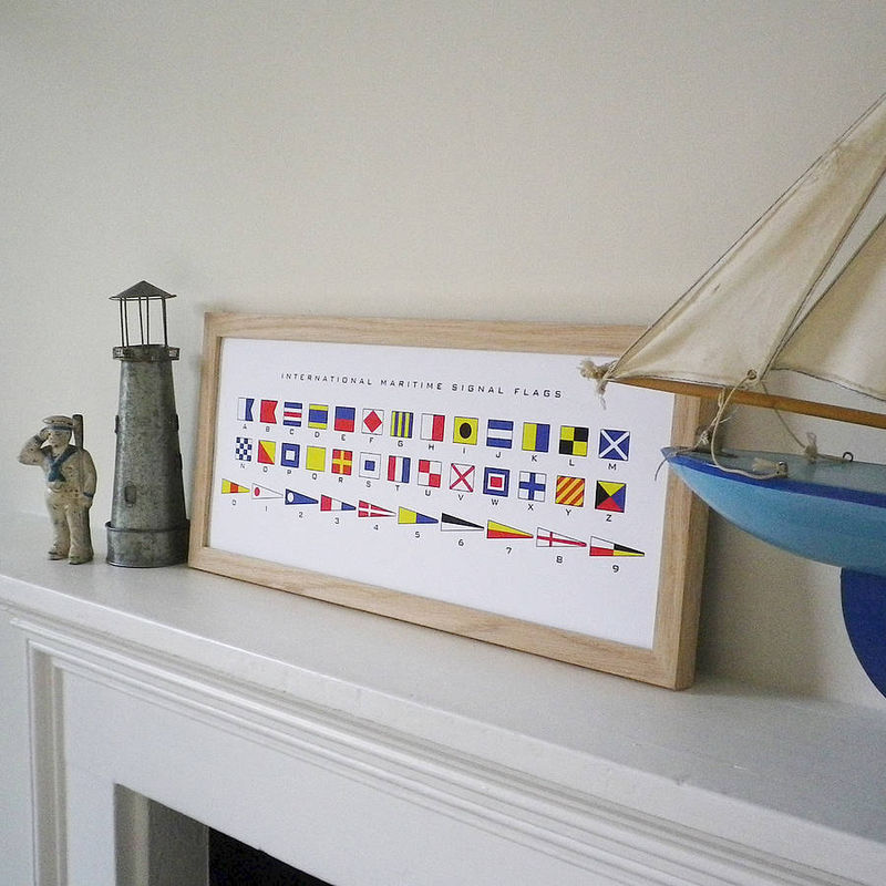 Maritime Signal Flags Alphabet Print - product images  of