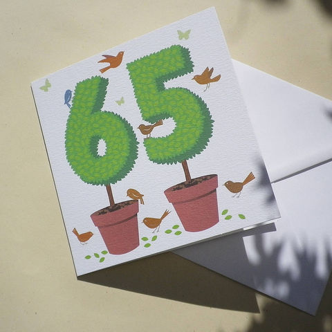 Personalised,Topiary,Number,Card,Paper_Goods,Cards,Birthday,Number_Card,Age_Card,Anniversary_Card,Birthday_Card,Gardening,Gardener,Cottage_Garden,Retirement_Card,Silver_Wedding_Card,Birds,Butterflies,Hedges