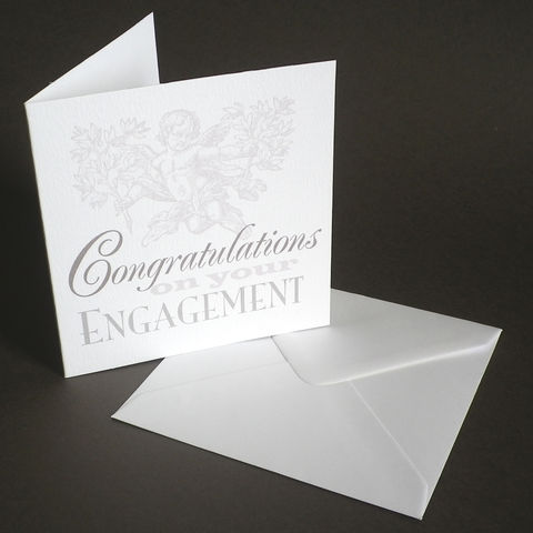 Personalised,The,Pigeon,Post,Stationery,Co.,Engagement,CongratulationsCard,Paper_Goods,Cards,Wedding,Engagement_Card,Announcement,Grey_and_white,Personalised_Cards,VIntage,Cherub,Cards_sent_direct,Romantic,Engraving,Typography
