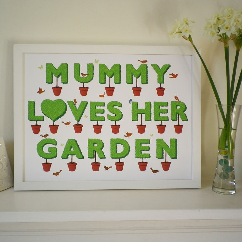 Garden Lovers Print (can be personalised with a name) - product images  of