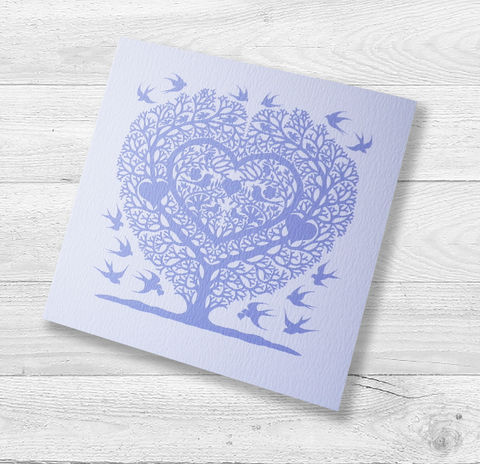 Love,Birds,Tree,Heart,Wedding,,Anniversary,,Engagement,or,Valentine's,Card,Paper_Goods,Cards,Blank,CardsLovebirds, Wedding, Anniversary, Engagement, Notelets,Folk_Art,Papercuts,Silhouettes,Hearts,Gift_for_her,Cards_Love_Hearts,Romantic,Gift_for_friend