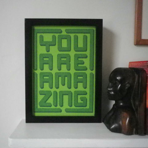 You,Are,Amazing,Topiary,Maze,Print,Art Print, Topiary, Maze, Green, Gift for Special Person, Amazing, Amazing Person