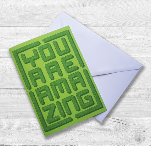 You,are,Amazing,Topiary,Gift,Card,Paper_Goods,Cards,You are amazing,Mazes,Birthday_Card,Gardener,Valentine's_Card